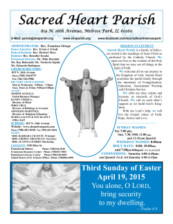 April 19, 2015 - Sacred Heart Parish