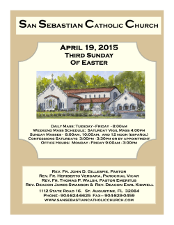 San Sebastian Catholic Church April 19, 2015