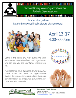 April 13-17 - Brentwood Public Library