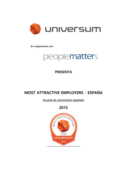 MOST ATTRACTIVE EMPLOYERS - ESPAÑA 2015