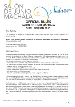 official rules salón de junio machala sixth edition 2015