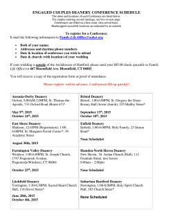 engaged couples deanery conference schedule
