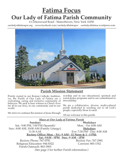 Latest Fatima Focus - Our Lady of Fatima Parish