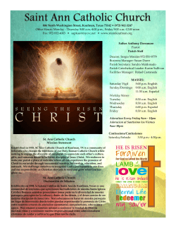 Bulletin April 05, 2015 - St. Ann Catholic Church