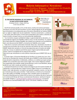 Abril – April 2015 - Oficina Hispana Católica