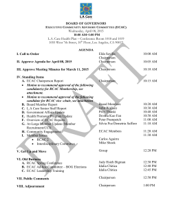 BOARD OF GOVERNORS Wednesday, April 08, 2015 10:00 AM–1