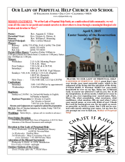 read our bulletin - Our Lady of Perpetual Help