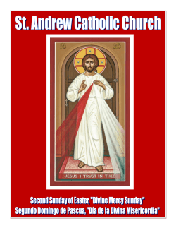 Sunday Bulletin - St. Andrew Catholic Church