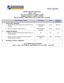 Final Agenda - Bay Bridge Info
