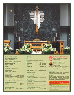 Current Bulletin - St Elizabeth Seton