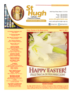 Easter Sunday of the Resurrection April 5, 2015 Easter Sunday of