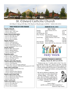 Bulletin 3-29-15 - St. Edward Catholic Church