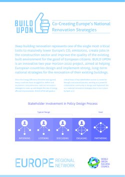 Co-Creating Europe`s National Renovation Strategies