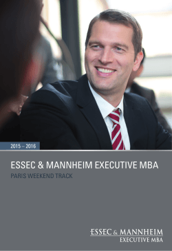 Paris - Brochure - Essec & Mannheim EMBA