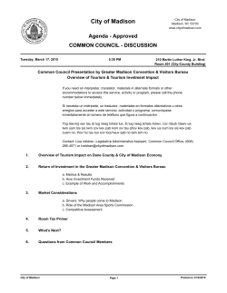 common council - discussion presentation by