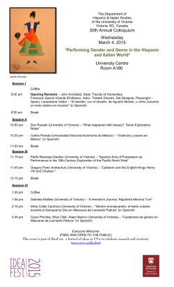 30th Annual Colloquium Wednesday March 4, 2015