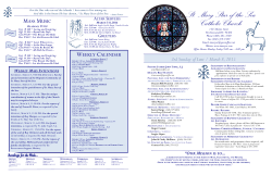bulletin - St Mary Star of the Sea