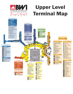 Upper Level Terminal Map
