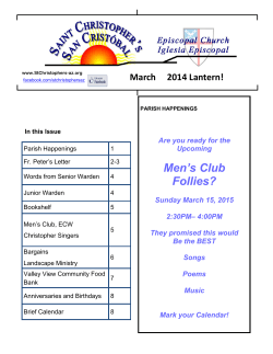 Men`s Club Follies? - St. Christophers Episcopal Church