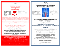 Pro Holistic Physical Medicine Free: Spinal Screening Exámenes de