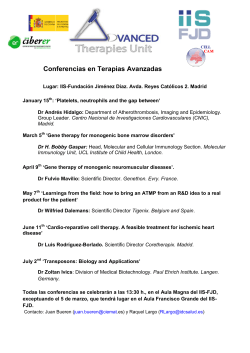 Conferencias en Terapias Avanzadas