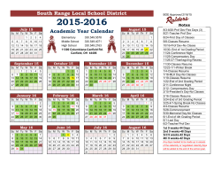 2015/16 Academic Calendar - South Range Local School District