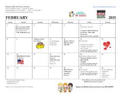 FEBRUARY 2015 - Brentano Math and Science Academy