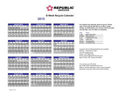B Week Recycle Calendar