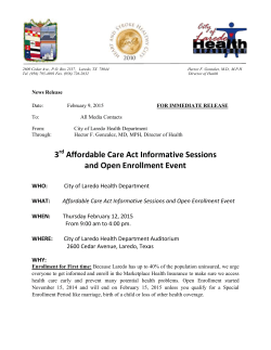 3rd Affordable Care Act Informative Sessions and