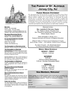 a Printable copy. - St. Aloysius Cathoilic Church Jersey City