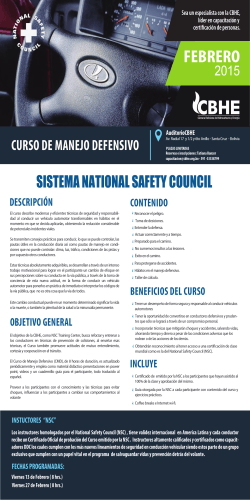 Manejo Defensivo Sistema NSC