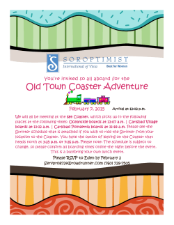 Old Town Coaster Adventure - Soroptimist International of Vista