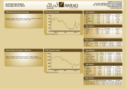 Arab Markets Report Thursday 29-01-2015