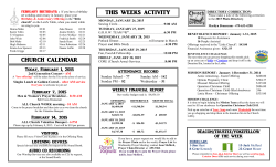 Bulletin 02012015 - Friendly Baptist Church