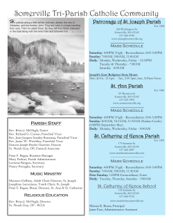 Weekly Bulletin - St. Ann Parish