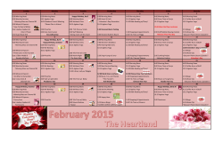 Monthly recreation calendar