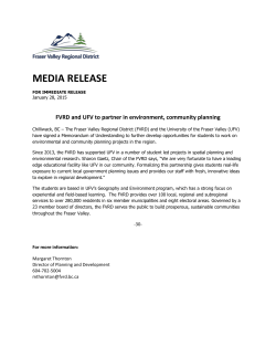 MEDIA RELEASE - Fraser Valley Regional District