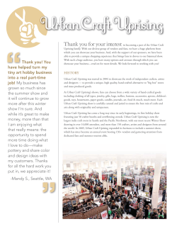 sponsorship guide - Urban Craft Uprising