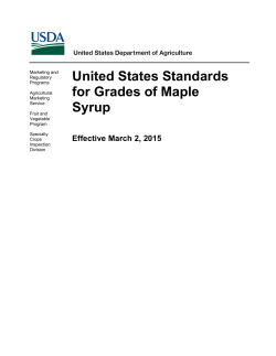 USDA adopts new maple grading standards