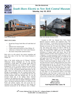 South Shore Electric to New York Central Museum