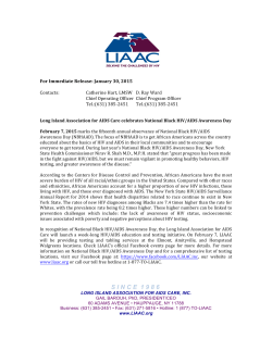 Press Release 1/30/2015 - Long Island Association for AIDS Care, Inc.