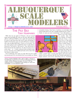 February Newsletter - Albuquerque Scale Modelers