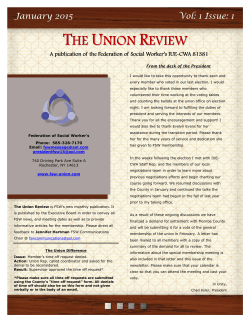 THE UNION REVIEW - Federation of Social Workers