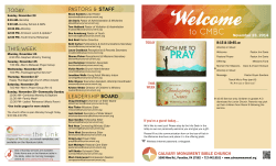 The Weekly - Calvary Monument Bible Church