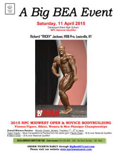 Download the PDF here - NPC National Qualifier Events
