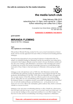 miranda fleming - The Media Lunch Club