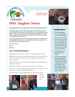 Current Newsletter - Hot Springs Village Anglers Club