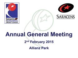 Annual General Meeting - Hertfordshire Cricket League