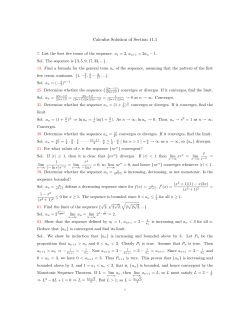 Calculus Solution of Section 11.1