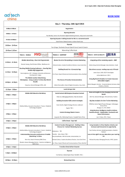 See Agenda - adtech China